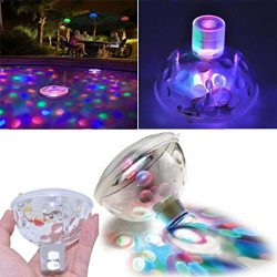 Quaanti Floating Underwater RGB LED Disco Light Glow Show Swimming Pool Hot Tub Spa Lamp Outdoor ...