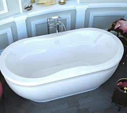 Spa World Venzi Vz3471aa Velia Oval Air Jetted Bathtub, 34×71, Center Drain, White