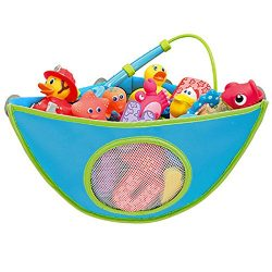 Gazelle Trading Bath Toy Organizer Bathtub Toys Holder Storage Net Corner Shower Caddy Bag for K ...