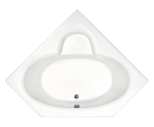 Sea Spa Tubs S6060S Tubs Sublime 60 by 60 by 23-Inch Corner Soaking Bathtub, White
