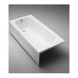 TOTO Fby1715Lpno.01 Enameled Cast Iron Bathtub 65-3/4″ X 32″ X 16-3/4″, Cotton