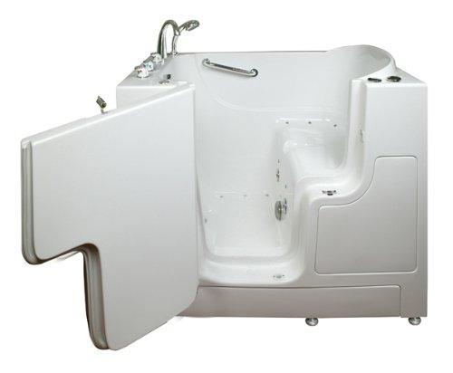 Wheelchair Access 4.33 Ft. Walk-in Bathtub in White-ella Walk in Baths-305221r