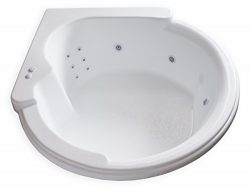 Carver Tubs – CW6464 Rounded Corner Drop In – 12 Jet, Self Draining Whirlpool Bathtu ...
