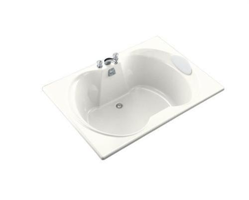 KOHLER K-1227-0 Overture 60″ x 42″ Drop-In Bath with Center Drain, White
