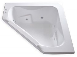 Carver Tubs – CT6060 Corner Drop In – 12 Jet, Self Draining Whirlpool Bathtub with O ...