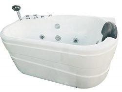 Acrylic Corner 57.13″ x 29.88″ Bathtub Drain Location: Left