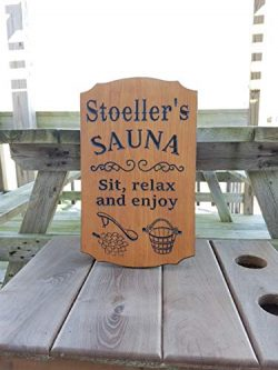 Ruskin352 Sauna Sign Personalized Wooden Printed Plaque Housewarming Gift Sauna Accessories Imag ...