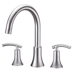 Ultra Faucets UF65103 Contemporary Collection Two-Handle Roman Bathtub Faucet, Brushed Nickel