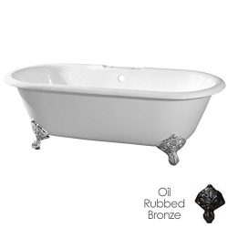 Randolph Morris 66 Inch Cast Iron Double Ended Clawfoot Tub Rim Drillings – Imperial Feet