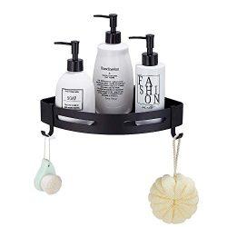 Gricol Space Aluminum Black Bathroom Shelf with Screws Kitchen Wall Shampoo Soap Shelf Shower St ...