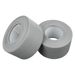 PVC Waterproof Sealing Tapes Pack of 2 Bathtub Caulk Strip Self Adhesive Waterproof Sealing Tape ...