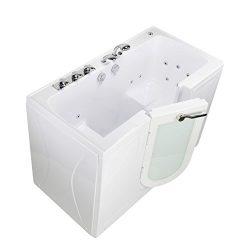 Ella O2SA3060F Tub4Two Acrylic Hydro Massage Outward Swing Door Walk-in Bathtub with in-Line Wat ...