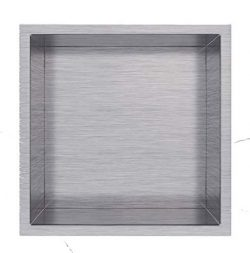 Shower Niche 12″ x 12″ Stainless Steel Colors Available: Polish and Brush Nickel (Br ...