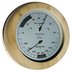 Fischer Instruments 196TH-03F 6″ Sauna Thermometer and Hygrometer, USA Version