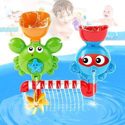AIVIAI Baby Bath Toy Interactive Bathtub Toys Kids Waterfall Water Shower Station Toy for Kids & ...