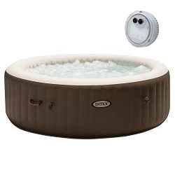 Intex Pure Spa 6 Person Portable Inflatable Bubble Jet Massage Heated Hot TubIntex PureSpa Batte ...