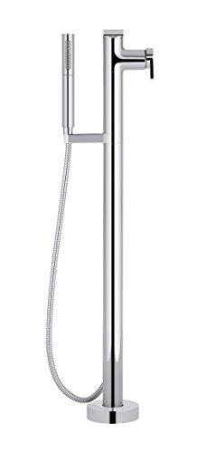 KOHLER K-T73087-4-CP Composed Freestanding Bath Filler with Handshower, Polished Chrome