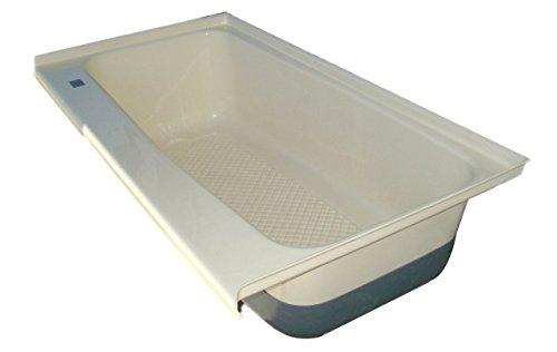 ICON RV Bath Tub Left Hand Drain TU600LH, Polar White