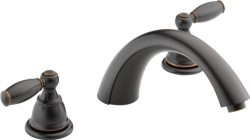 Peerless Claymore 2-Handle Widespread Roman Tub Faucet Trim Kit, Oil-Rubbed Bronze PTT298696-OB  ...