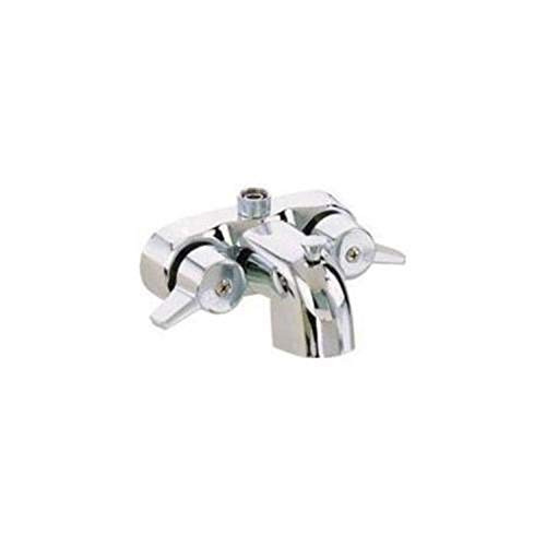 Shreem85 New Duty Heavy 3 3/8″ Centers Plated Chrome Diverter Clawfoot Tub Faucet