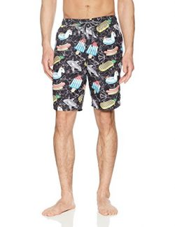 NEFF Men's Daily Hot Tub Board Shorts for Swimming, Night Pool Party, S