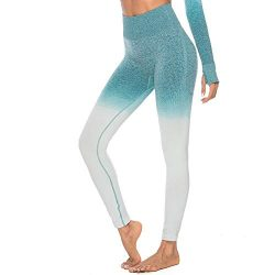 Athletic Pants for Women Chaofanjiancai Workout Tie Dye Print Seamless Leggings Fitness Sport Gy ...