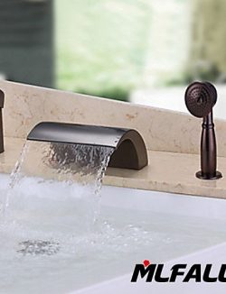 Ling@ Basin mixer Mlfalls New Sanitary Fittings Deck Mounted Brass Finish Oil Rubbed Bronze Bath ...