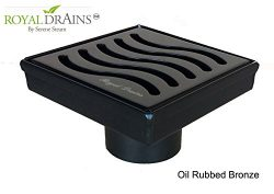 Royal Square Shower Drains – Ocean Wave Design – stainless steel Luxurious line by Serene  ...