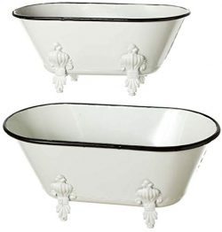 Midwest CBK Black & White Enamel Clawfoot Tub – 2 Piece Set