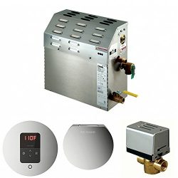 Mr. Steam MS400E Steam Bath Generator Package w/ Polished Chrome iTempo Control, Steamhead and A ...