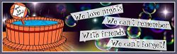 We Love Nights We Can't Remember Funny Sign with Hot Tub and Prismatic Bubbles – Fun Sign Factor ...