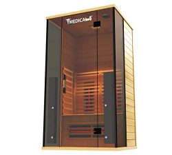 Medical Sauna 4 Full Spectrum | Home Sauna – 2 Person Indoor Infrared Sauna Spa | Oxygen I ...