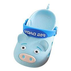 Baby Boys Girls Summer Beach Shoes Toddler Kids Cartoon Pig Slippers Flip Sneakers Children Sand ...