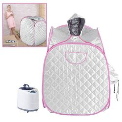 Sauna Steam Tent, 2L Portable Folding Intelligent Remote Control Personal SPA Slimming Salon Hom ...