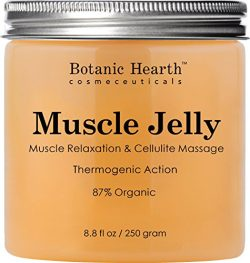 Botanic Hearth Muscle Jelly Hot Cream 8.8 fl. oz. – 100% Natural Cellulite Cream Treatment ...