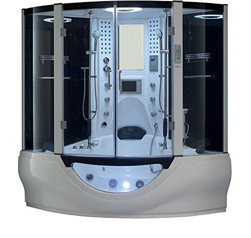 2019 Valencia Computerized Steam Shower Sauna with Jetted jacuzzi Whirlpool Massage Bathtub Spa  ...