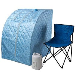 Durasage Lightweight Portable Personal Steam Sauna Spa for Weight Loss, Detox, Relaxation at Hom ...