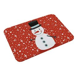 Decor Door Mat, Christmas Decor mat Floor Entrance Door Santa Snowman Bathroom Mat Indoor Bathtu ...