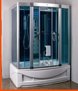 Steam Shower Room with Whirlpool Tub.BLUETOOTH. 9001 Right drain. 6 years warranty