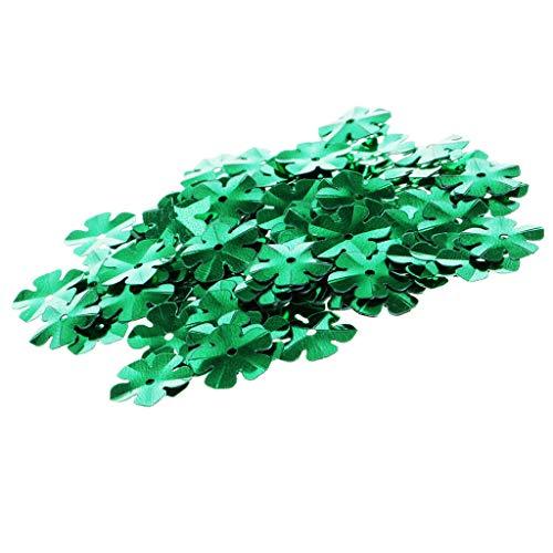 100Pcs DIY Flower Cup Sequins Paillettes Loose PVC for Wedding Dress Crafts (Color – Green)