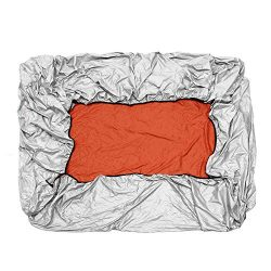 Anddoa Various Sizes Square Hot Tub Spa Cover Cap Waterproof Protector Oxford Fabric Silver &#82 ...