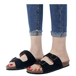 Women's Open Toe Slide Flip Flops – Adjustable Slipper Beach Sandal House Shoes for  ...