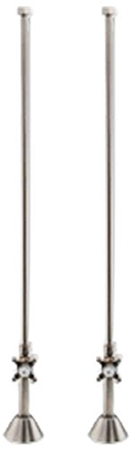 Cambridge Plumbing CAM341D-CP Clawfoot Bathtub Plumbing Deck Mount Supply Lines-Polished Chrome, ...