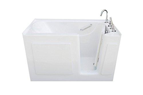 Signature Bath LPI4730-S-LD Walkin Bathtub with Left Drain and Door, 47″ x 30″ x 38& ...
