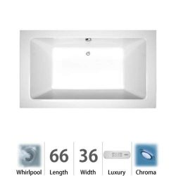 Sia 66″ x 36″ Whirlpool Bathtub Color: White