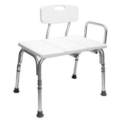 Carex Tub Transfer Bench – Shower Chair Transfer Bench with Height Adjustable Legs – ...