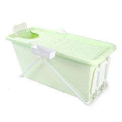 Thickened Folding Plastic Bathtub Adult Bathtub Baby tub Swimming Pool (124×59×62 cm)
