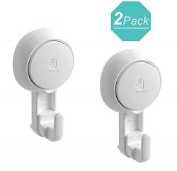 Teletrogy Suction Hooks Reusable Suction Cup Hooks Powerful Shower Hooks Heavy Duty Wall Hooks f ...
