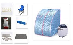 dowantwaps 1000W Personal Steam Sauna,Portable Home Indoor Spa Room with Chair for Weight Loss ( ...