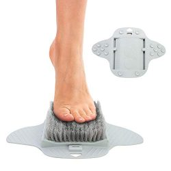 Pivit Foot Scrubber Brush for The Shower | Exfoliator Skin Scrub with Soft and Stiff Bristles fo ...